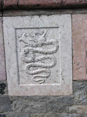 Pozzo particolare marmo rosa