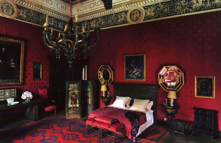 Camera Rossa - Castello di Grazzano Visconti