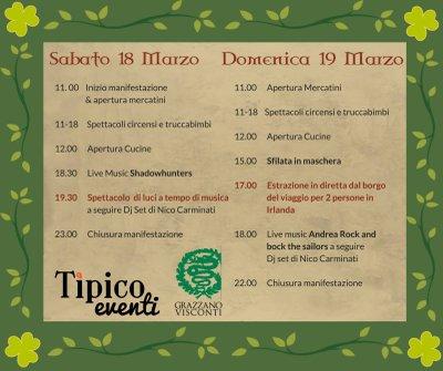 San Patrizio 2017 Programma