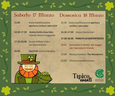 San Patrizio 2018 Programma